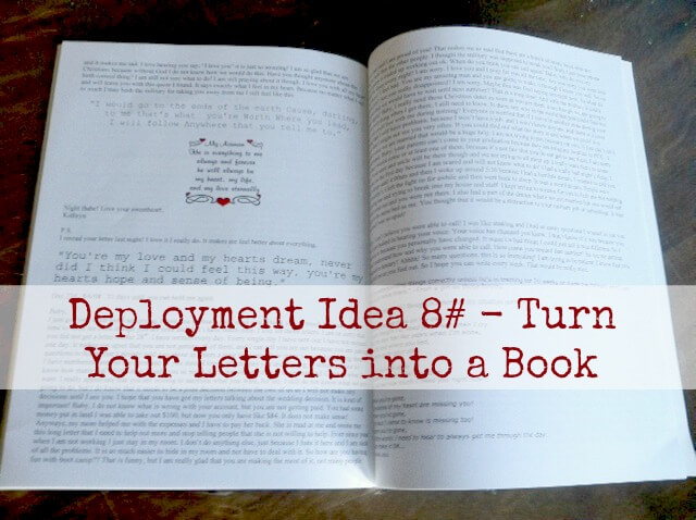 deployment idea 8 turn your letters into a book With turn letters into a book