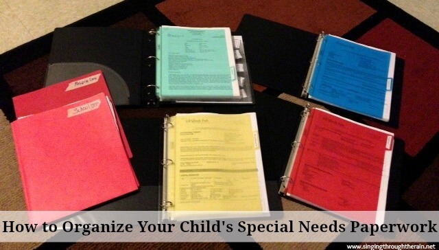 How to organize your child's special needs paperwork