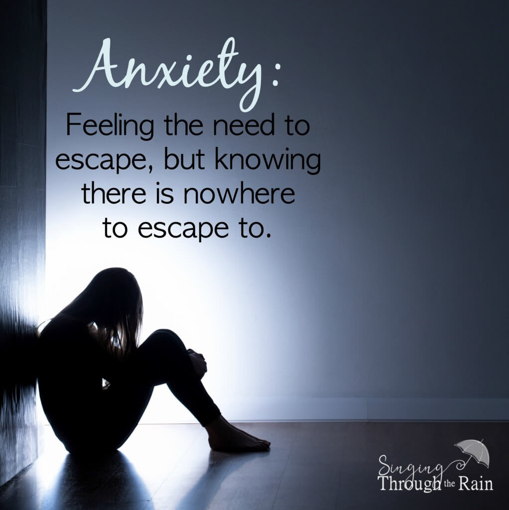 Anxiety is the need to escape