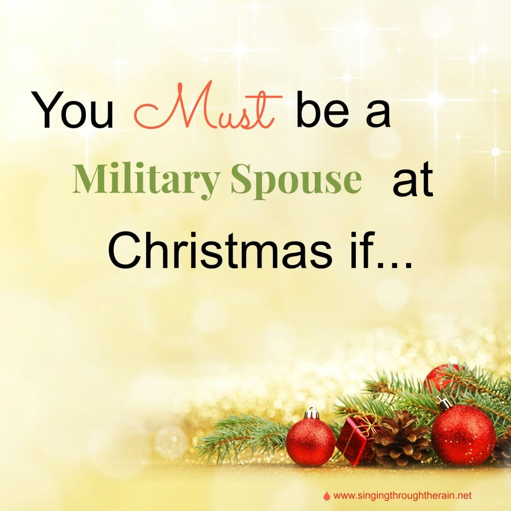 Military Spouse at Christmas