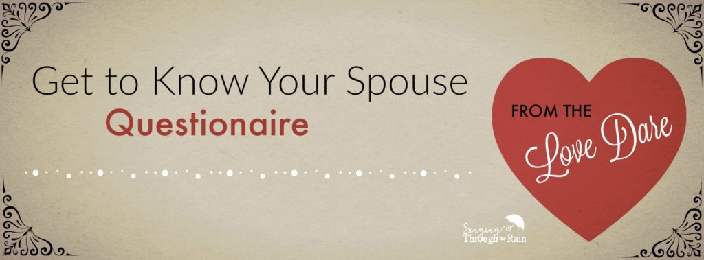 Get to Know Your Spouse