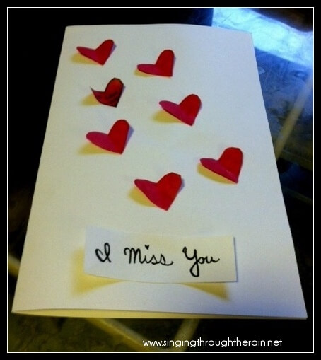 Deployment Idea 5 Quot I Miss You Quot Cards Singing Through