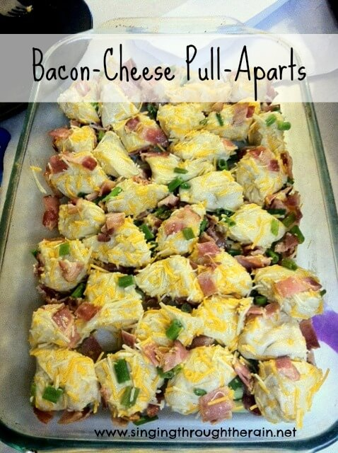 Bacon-Cheese Pull-Aparts