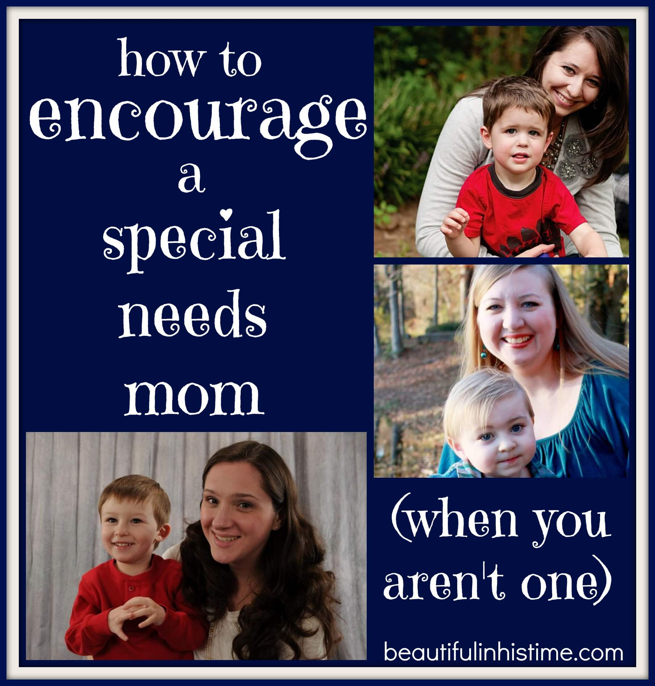 how to encourage a special needs mom