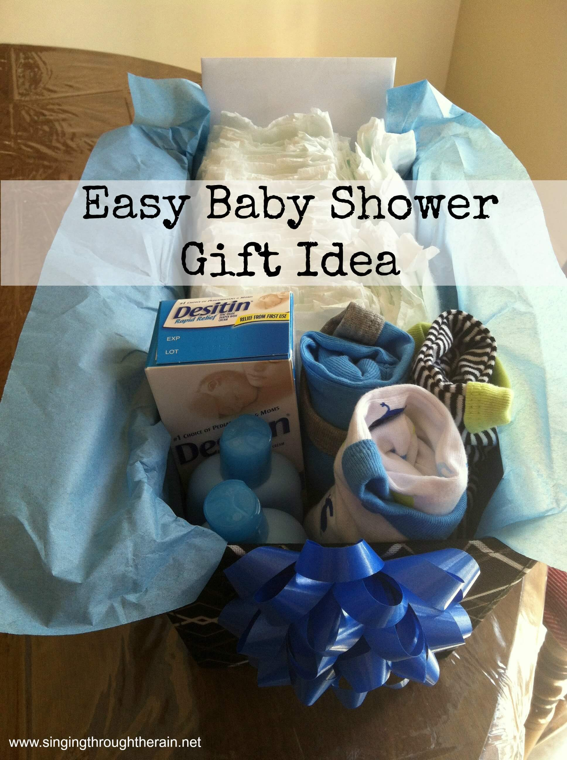 Easy baby shower gift idea singing through the rain baby shower gift negle Gallery