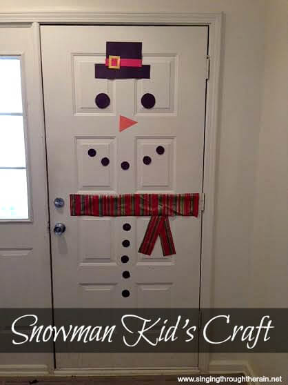 Snowman Kid\u0027s Craft & Fun Snowman Kid\u0027s Craft | Singing Through the Rain