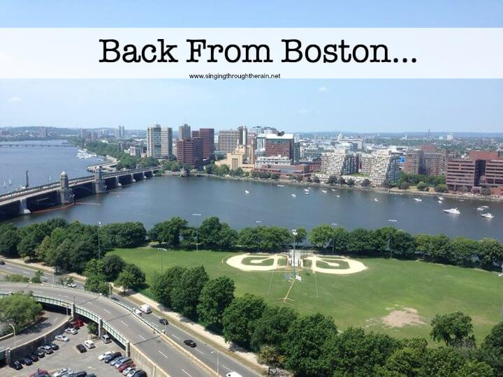 Back From Boston…