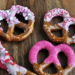 Decorated Pretzels for Valentine's Day