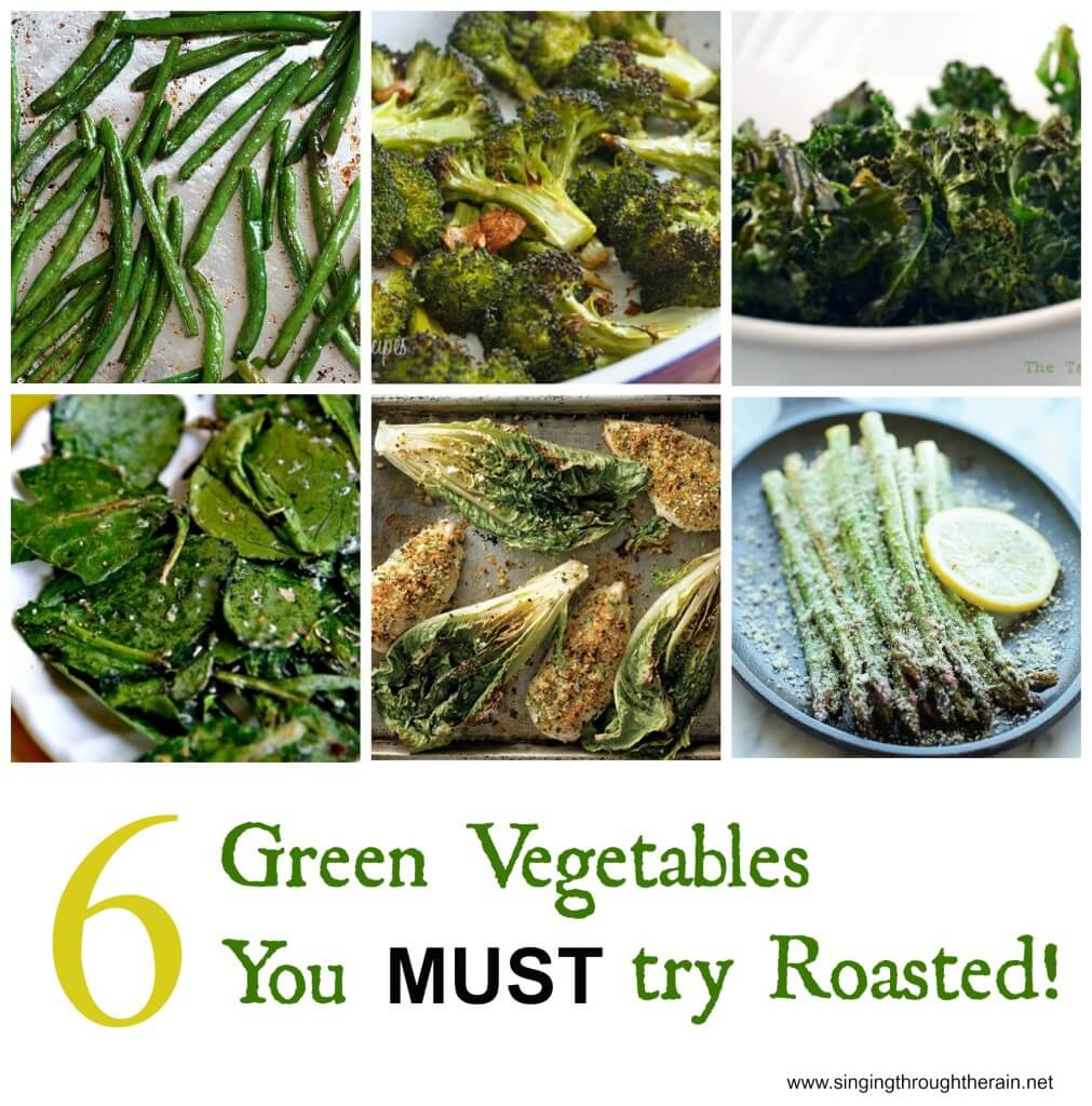 roasted green vegetables