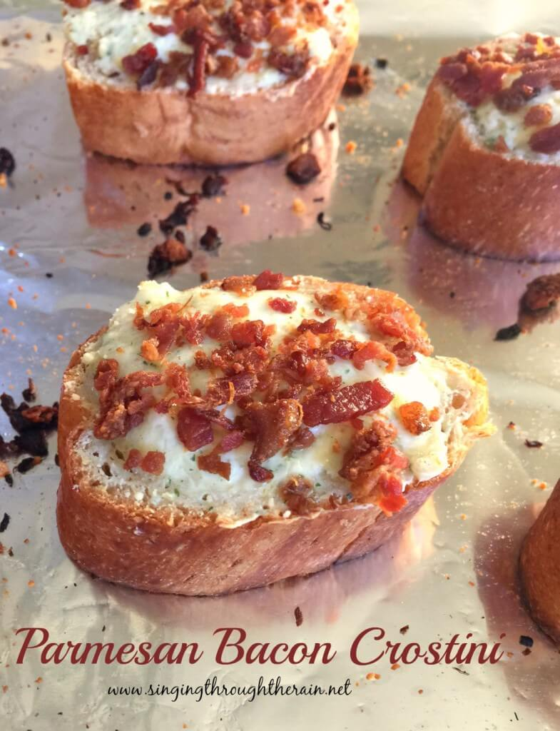 Parmesan Bacon Crostini
