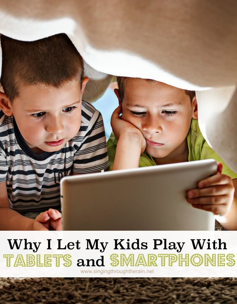 kids play with tablets