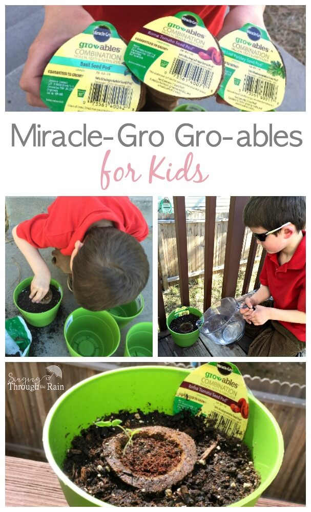 Miracle-Gro Gro-ables for Kids - the perfect spring activity!