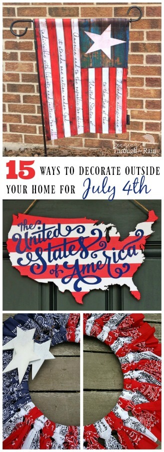 15 Ways to Decorate Outside Your Home for July 4th